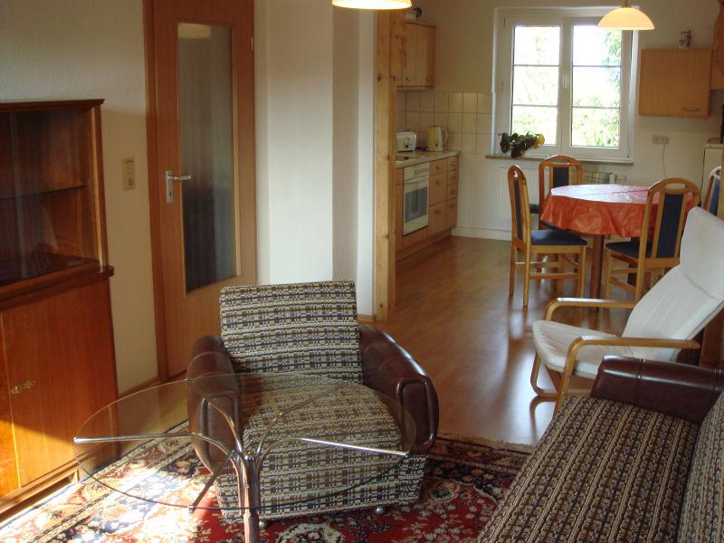 Wohnzimmer-Ferienwohnung-Dresden